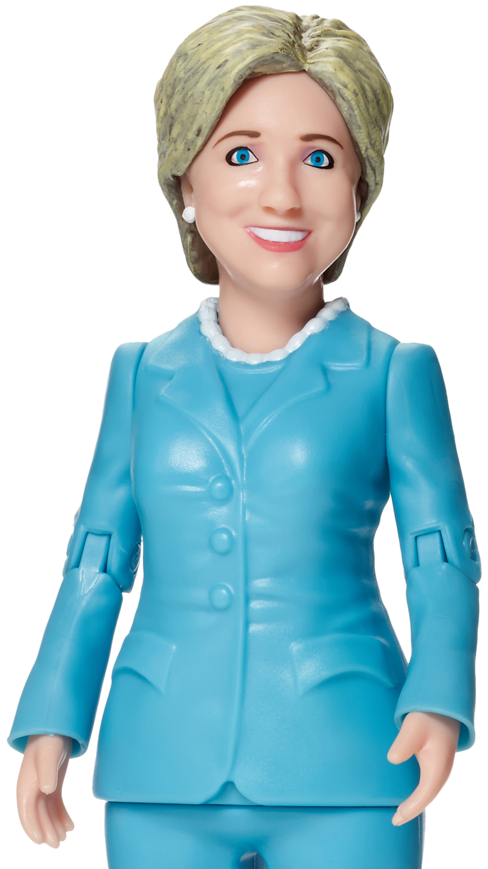 Hillary transparent full body. Clinton action figure she