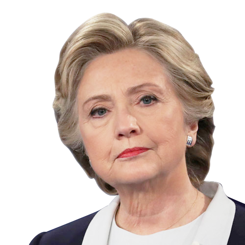 Hillary transparent headshot. Clinton in png web