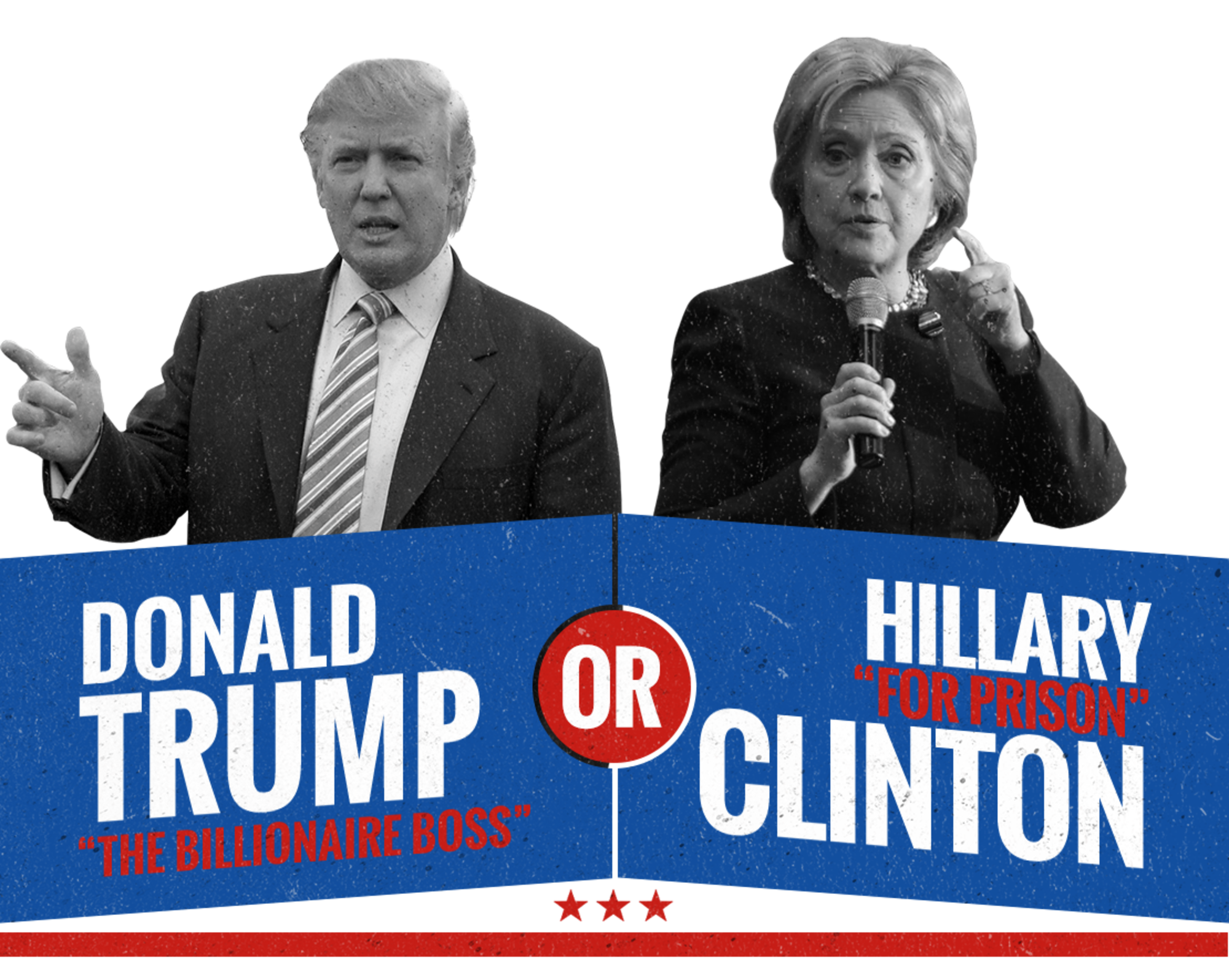 Hillary transparent trump. A lesser of two