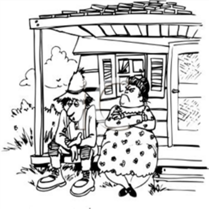 Hillbilly clipart porch. Country folks and a