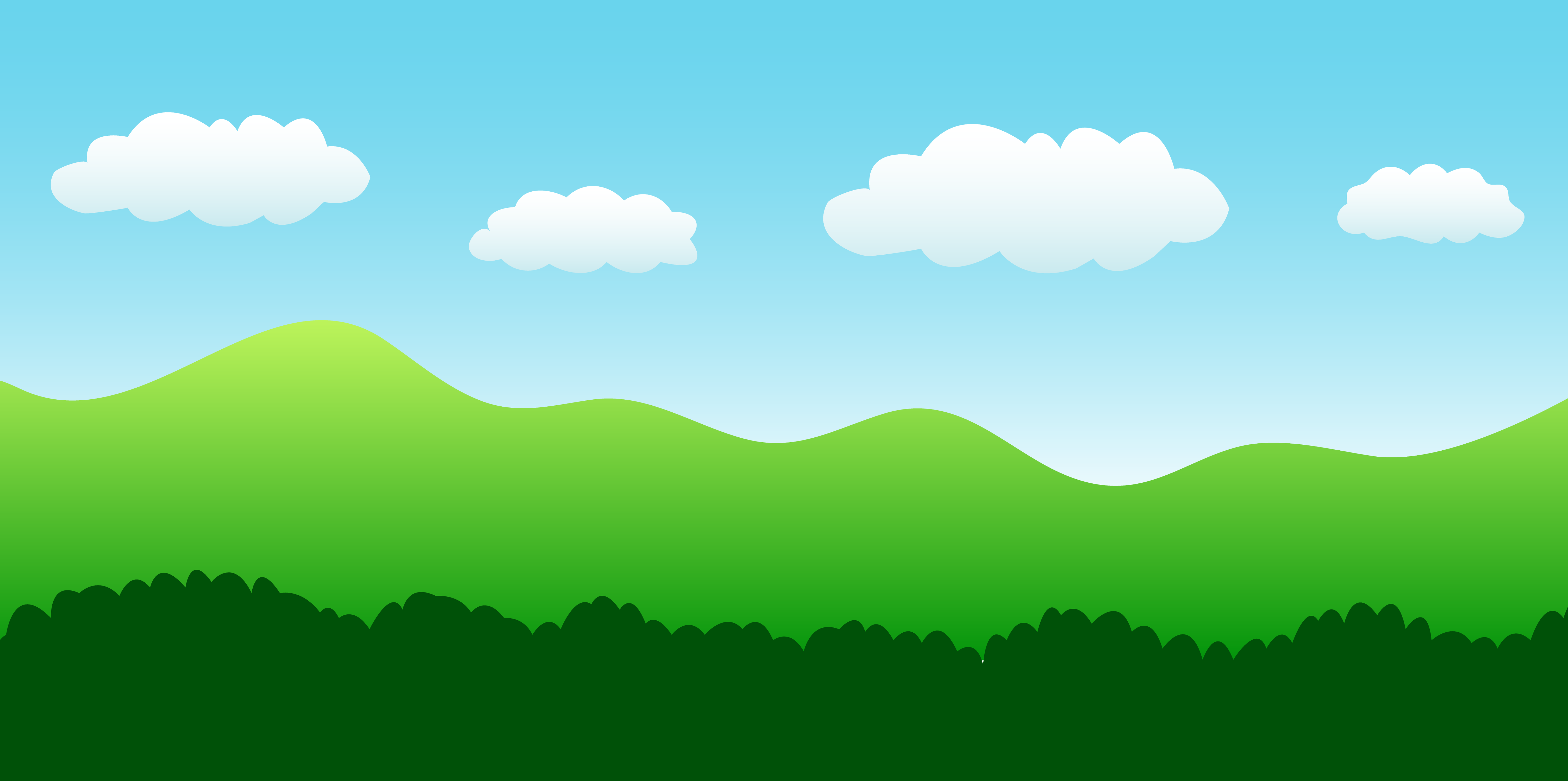 hills clipart cloudy sky