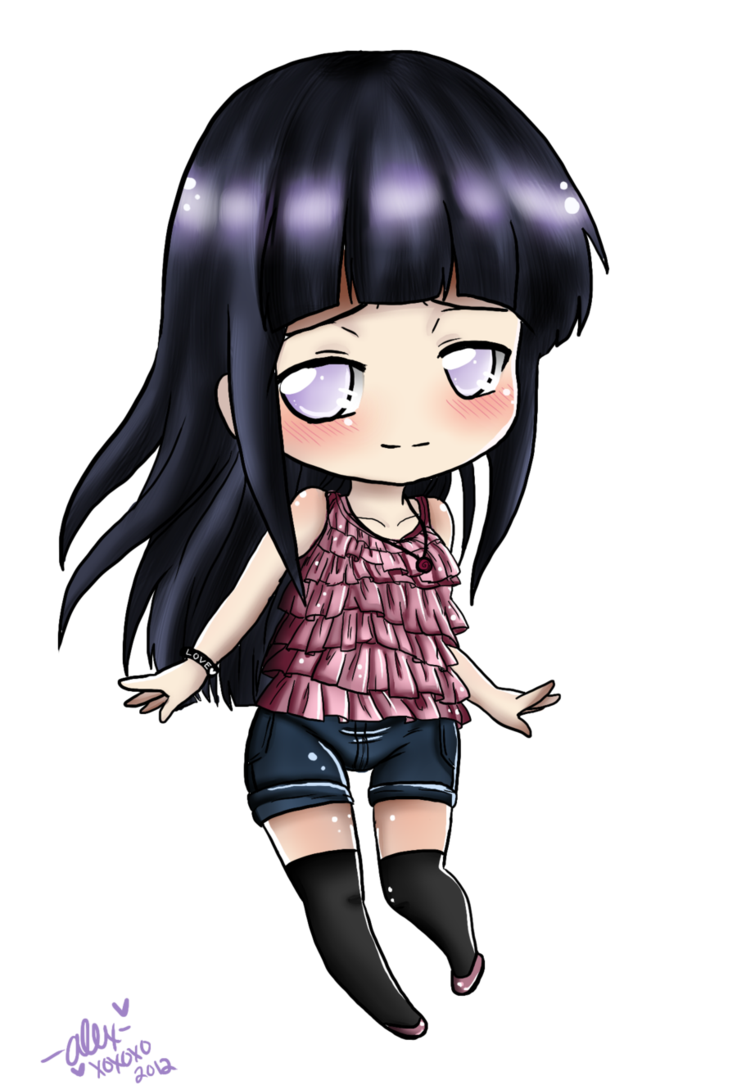 Hinata transparent cute. Chibi outfit time by