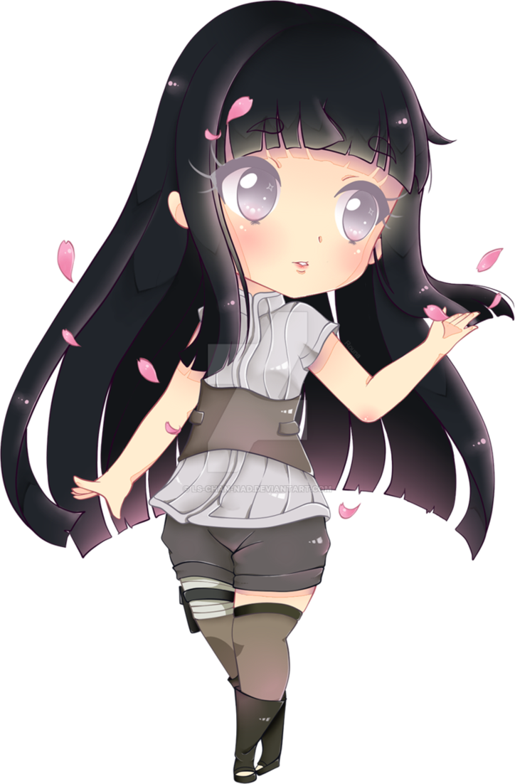 Hinata transparent drawing. Chibi from the last
