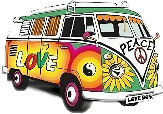 Volkswagen drawing hippie. Bus peace sstickers report
