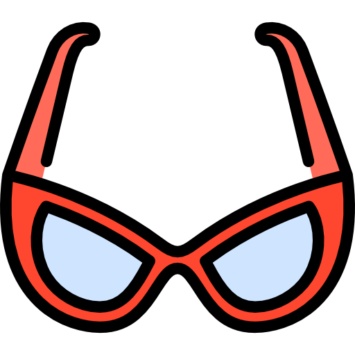80's vector party sunglasses. Icon png svg psd