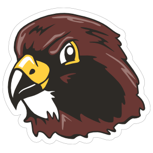 Hawk transparent mascot. Head sticker