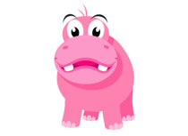 Hippo clipart big tooth. Free clip art pictures