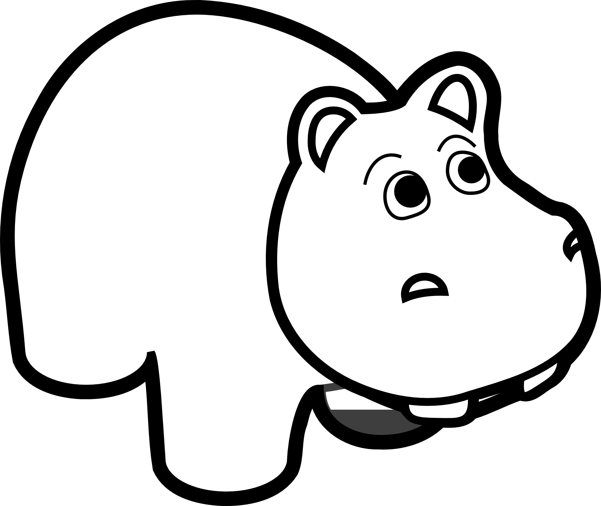 Hippo clipart big tooth. X dumielauxepices net