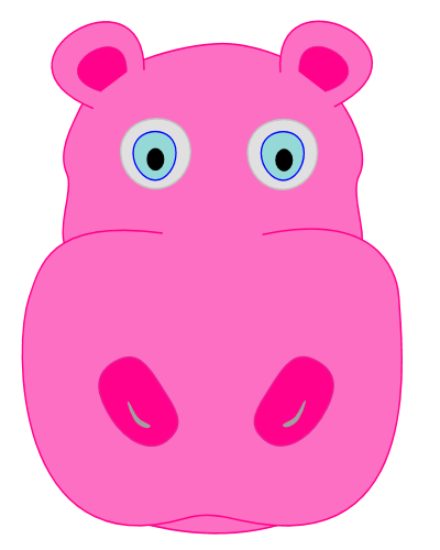 Hippo clipart clip art. Pink pencil and in