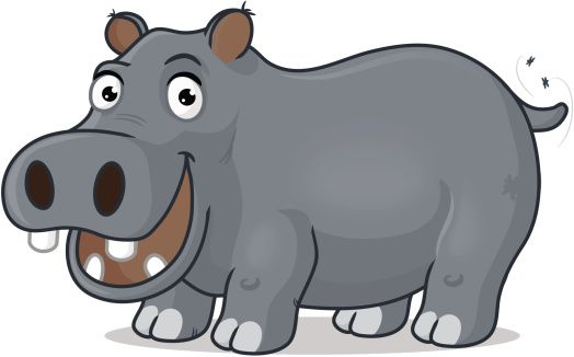 Hippo clipart happy hippo. F r abs for
