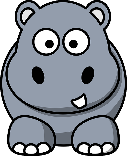Hippo clipart happy hippo. In contempt of hungry