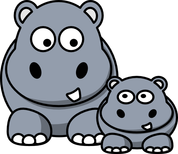 hippopotamus clipart cartoon hippo