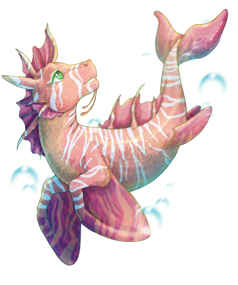 Drawing creatures hippocampus. Baby by fufunha on