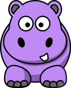 Drawing hippopotamus purple cartoon. Hippo clip art at