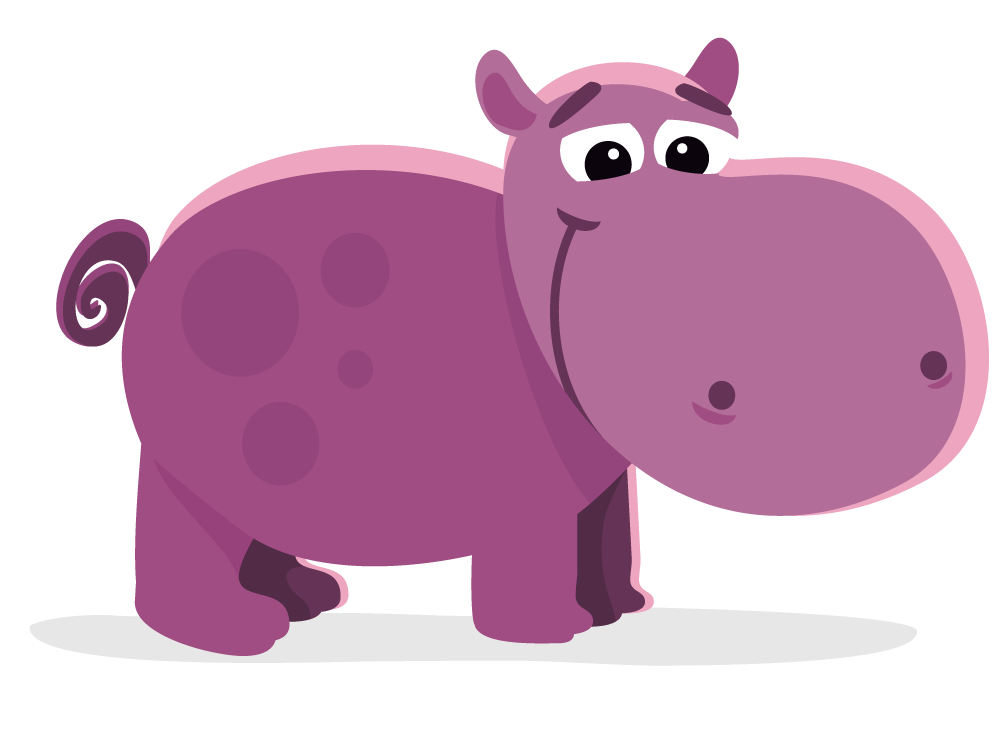 Hippopotamus clipart transparent background. Stylish and peaceful hippo