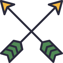 Hipster arrow png. Symbol outline filled icon