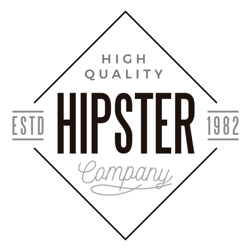 Vector triangles brand. Hipster company logo transparent