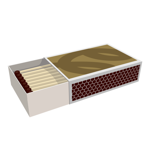 Hipster transparent box. Of matches illustration png