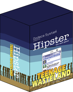 Hipster transparent box. Teenage wasteland board game