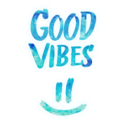 Hipster transparent good vibes. Funny smiley statement happy