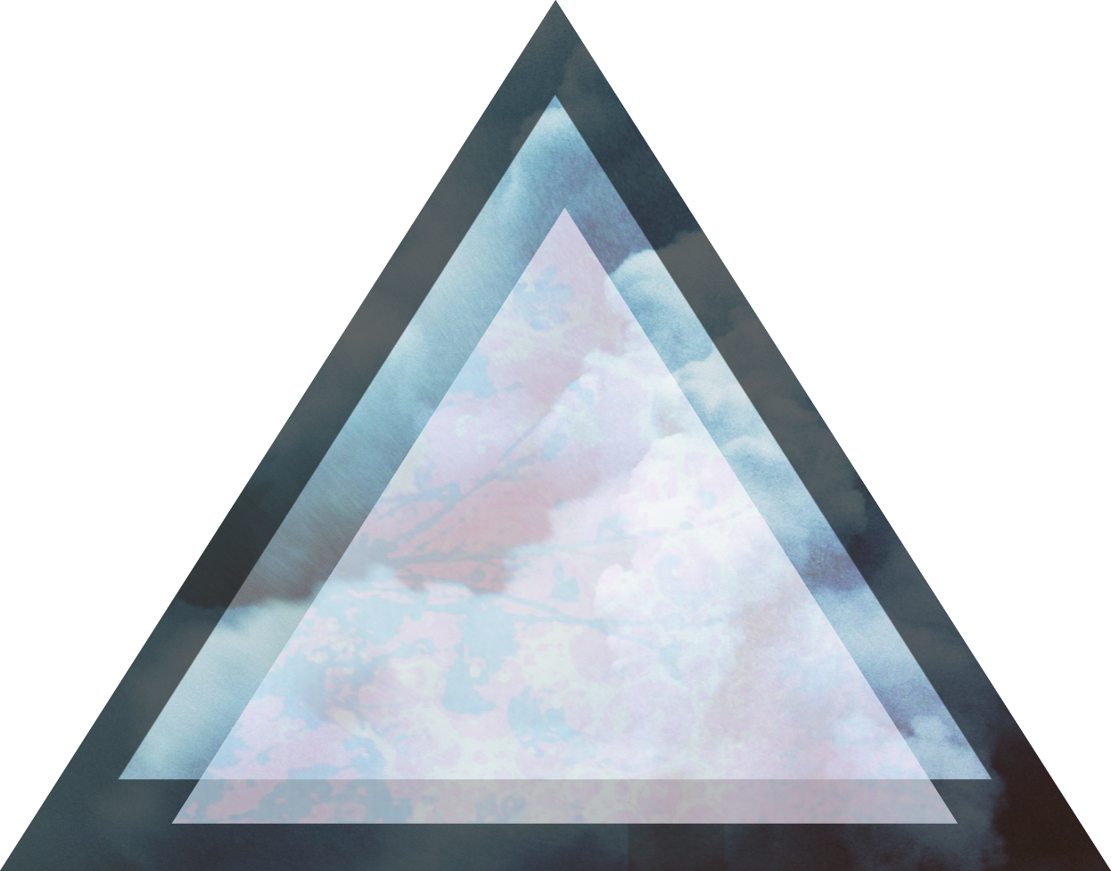 Hipster transparent psychedelic. D illusion triangle pink