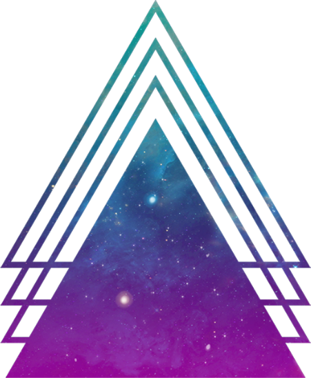 Hipster transparent triangle. Triangles sticker by yeliveli