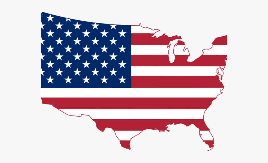 Historic flag. History clipart usa map