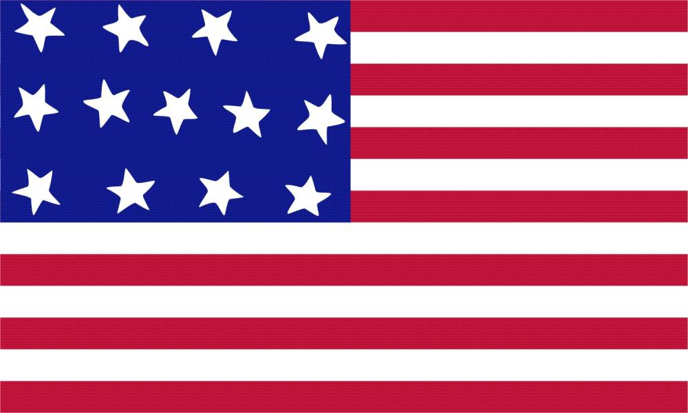 Historic flag. Historical flags from american