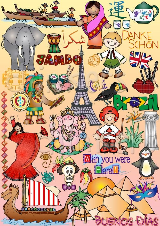 History clipart culture diversity. Around the world clip