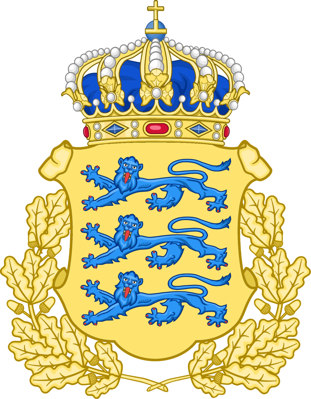 History vector royal. Lesser coat of arms