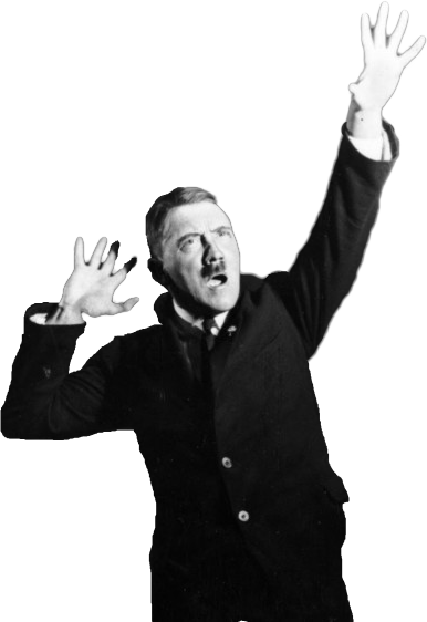 Practicing his speech in. Transparent hitler heil background image free stock