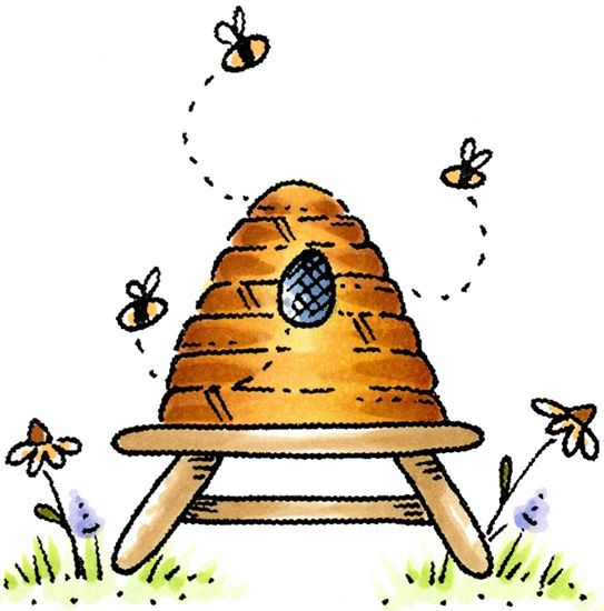 Beehive clipart tree clipart. Bee hive clip art