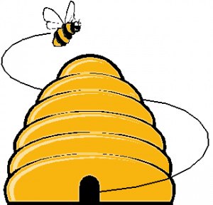 Honeycomb clipart bee fly. Beehive s a buzzing