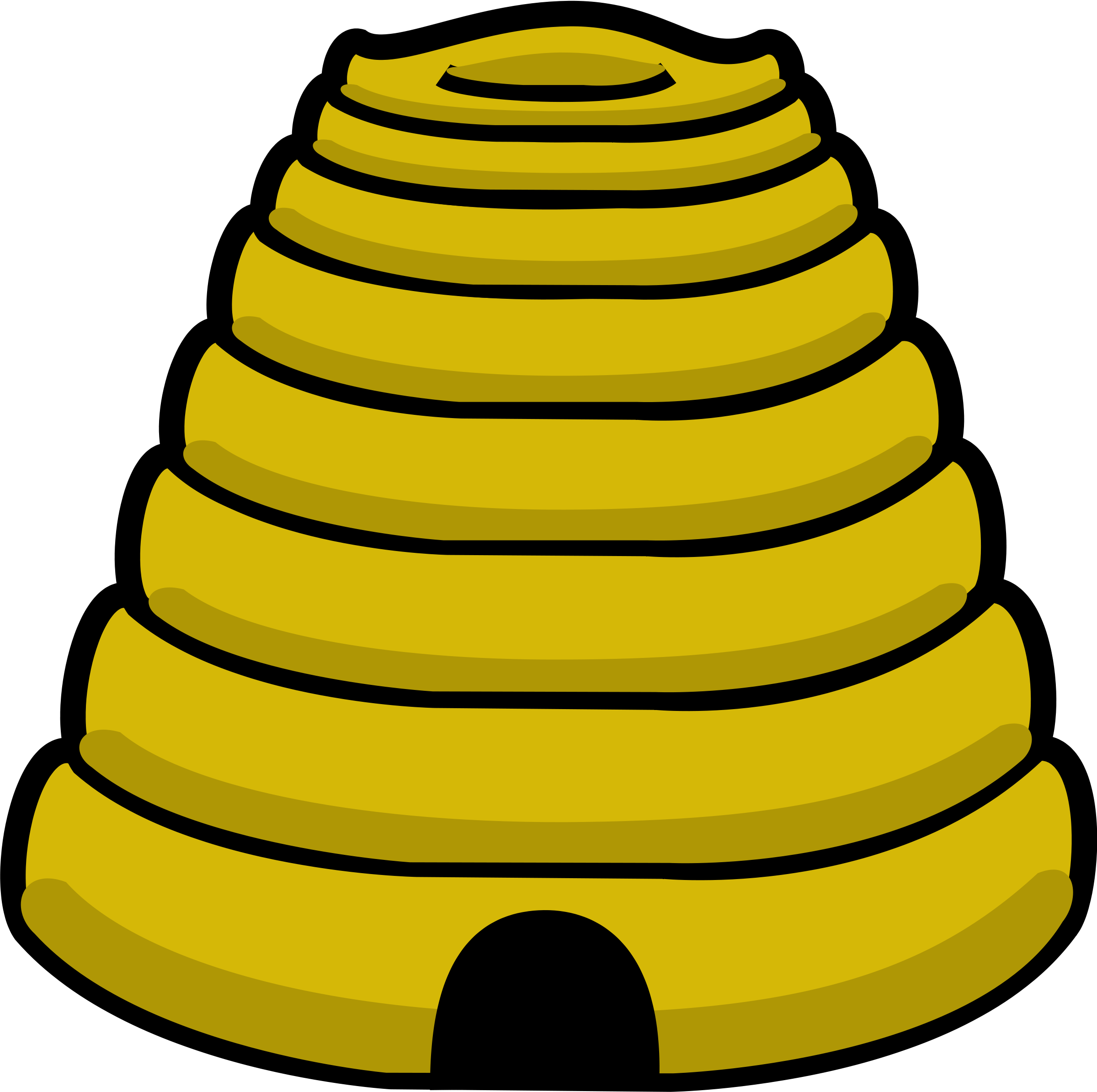 Hive clipart outline. Free bee images download