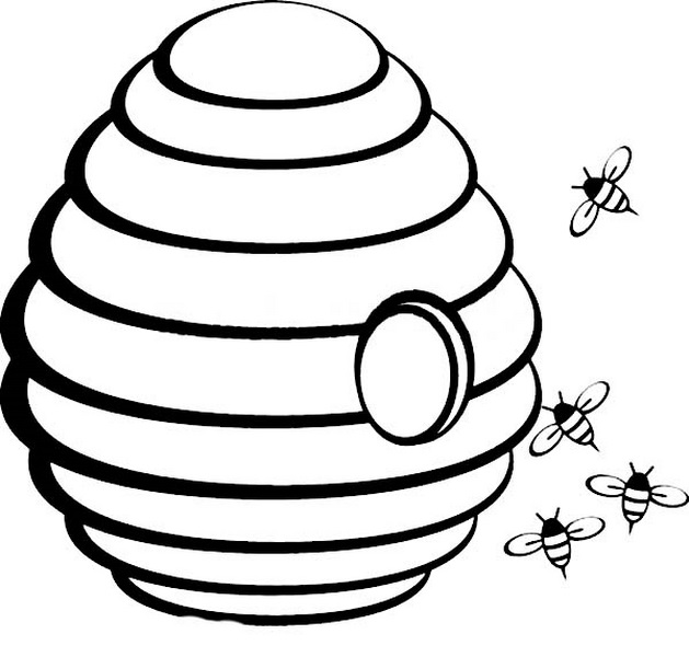 Hive clipart outline. Nice beehive template inspiration