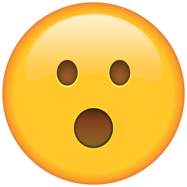 Emojis drawing surprised emoji. Face shocked by an