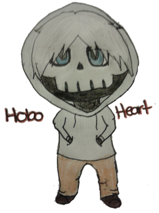 Hobo drawing. Heart chibi by xxawokennightmarexx