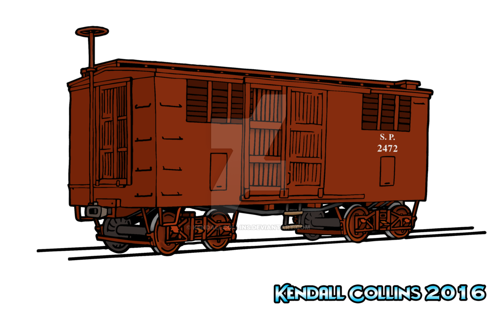 Hobo drawing boxcar train. From first to my