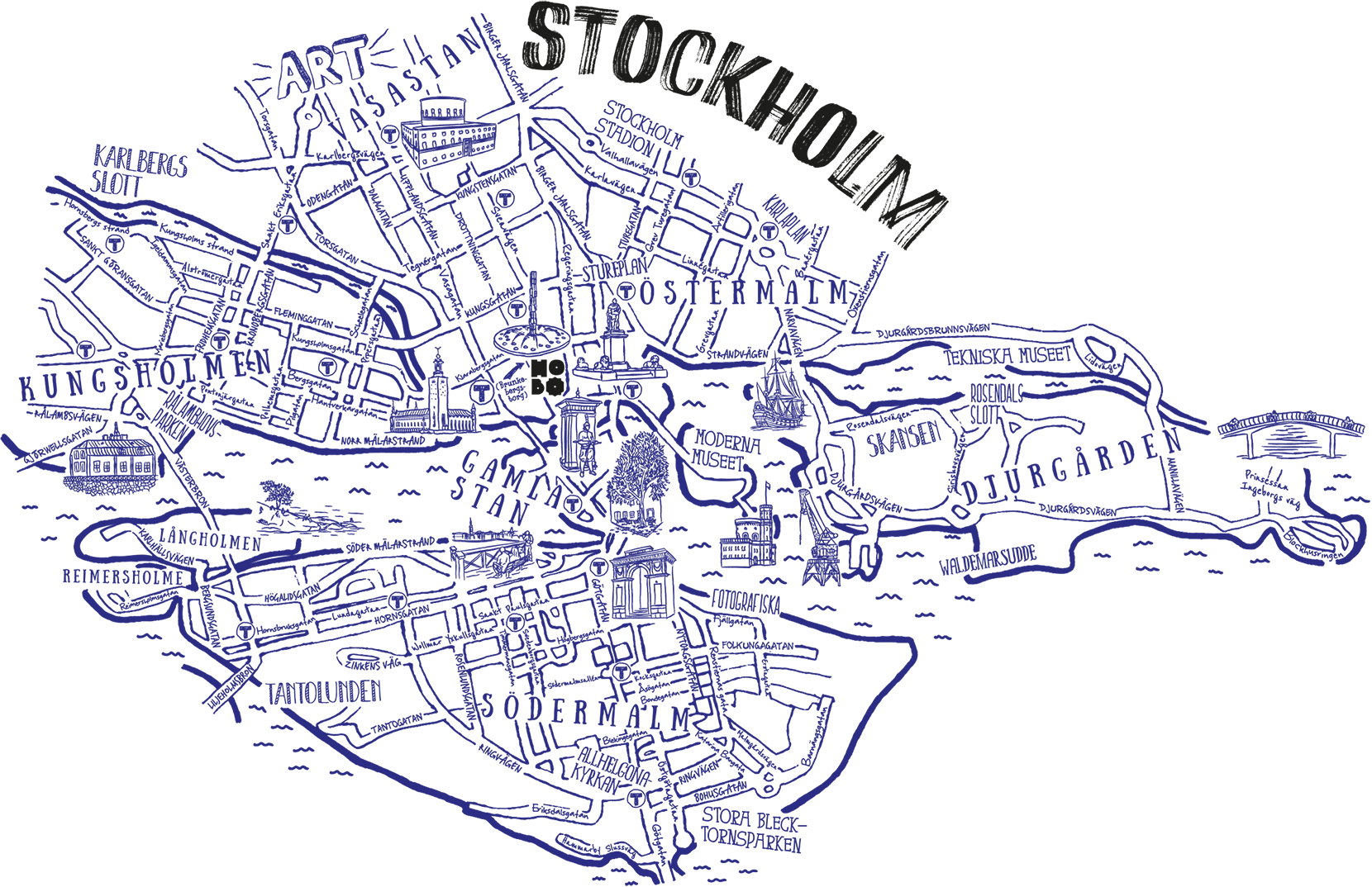 Hobo drawing easy. Hotel stockholm neighbourhood guide black and white stock