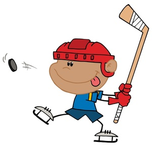Hockey clipart sport. Player image a black