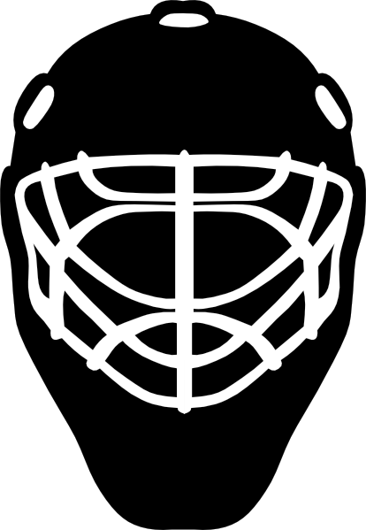 Hockey . Mask clipart symbol vector black and white
