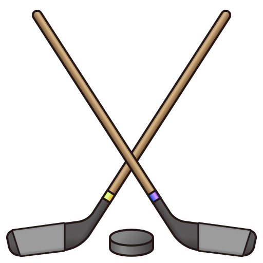 Hockey puck and stick png. Ice emoji for facebook