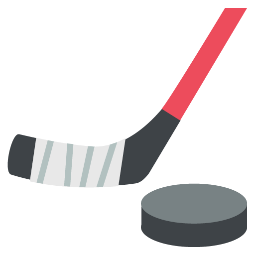 Hockey stick and puck png. Ice emoji for facebook