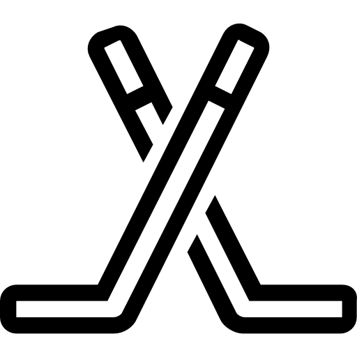 Hockey stick outline png. Two sticks free sports