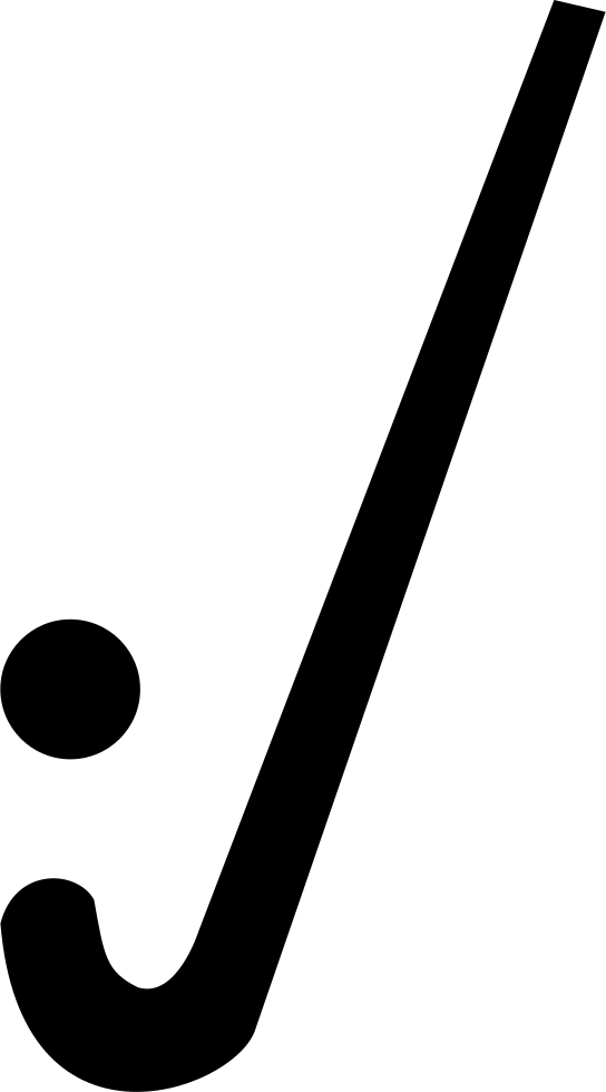 Hockey stick outline png. With ball svg icon