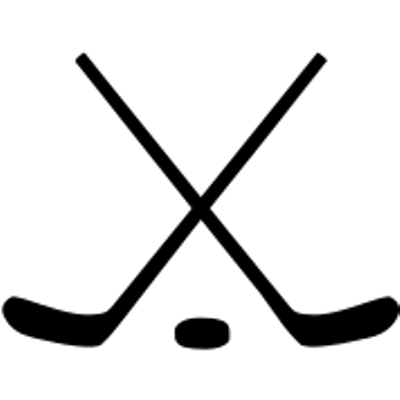 Hockey stick png. Crossed ice sticks and