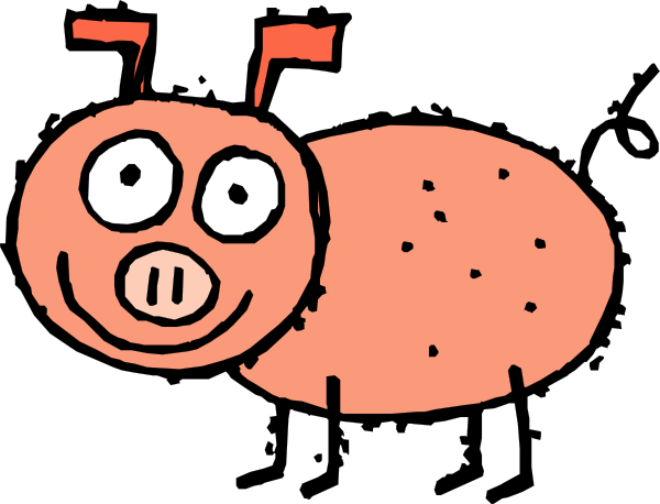 Hog clip small. Pig cartoon art at