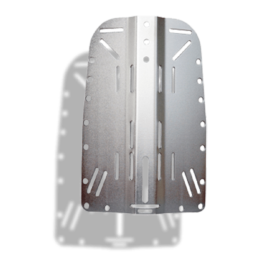 Hog clip stainless steel. Backplate