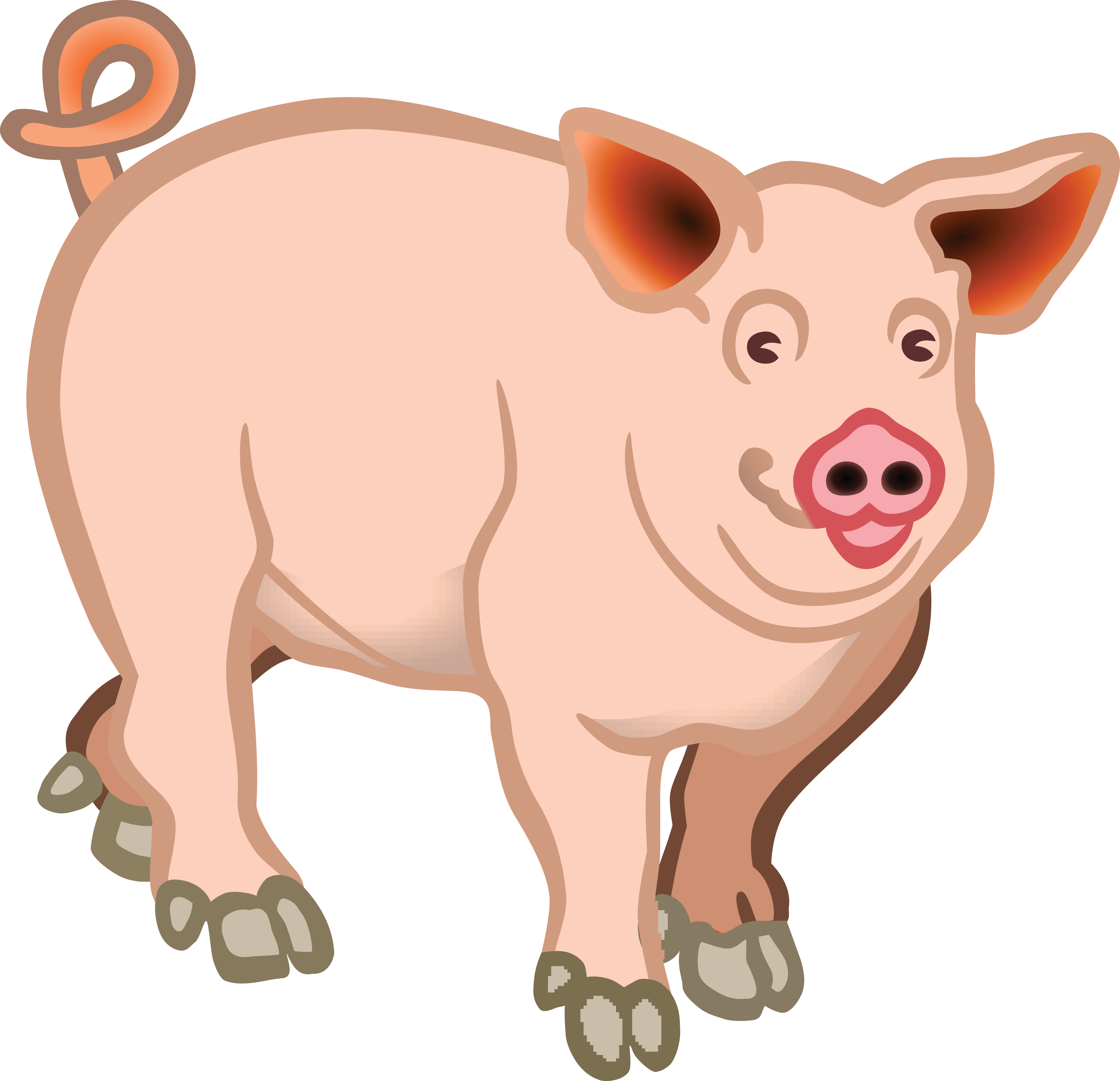 Hog clipart baby pig. Happy smiling little stock