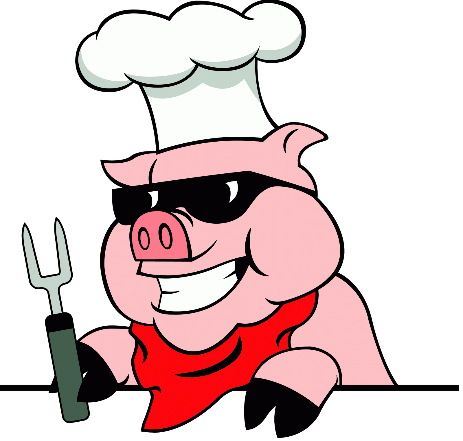 Cartoon pig at getdrawings. Catering clipart kid image free download